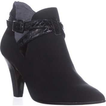 Donald J Pliner Tamy Pointed-Toe Ankle Booties, Black, 6.5 US