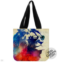 Sunny Leo Colorfull Vintage, handmade bag, canvas bag, tote bag
