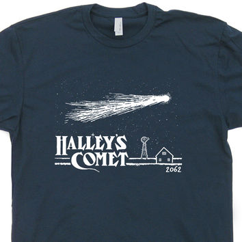 Halleys Comet T Shirt Vintage Retro Nasa Shirt Asteroids Astronomy Shirt