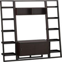 "Sloane Espresso 43.75"" Leaning Media Stand with 2 18"" Bookcases in Media Stands, Consoles 
