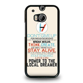 TWENTY ONE PILOTS TITLES HTC One M8 Case Cover