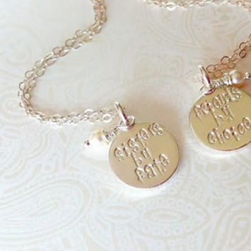 Sisters by Fate Friends by Choice--Sister Necklace Set-Gift for Sister