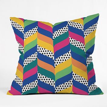 Juliana Curi Chevron 6 Throw Pillow