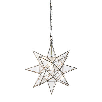 Worlds Away Small Clear Star Chandelier