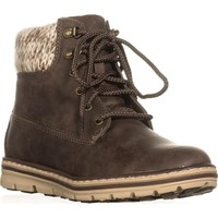 Cliffs by White Mountain Kansas Lace Up Ankle Boots, Stone, 6.5 US