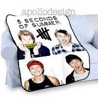 Cool 5SOS 5 seconds of summer band Home Deco Bedding Fleece Blanket Throw