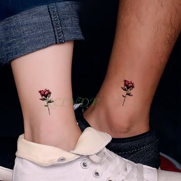 6617d4f43 Waterproof Temporary Tattoo Stickers Beautiful Flower Rose fake