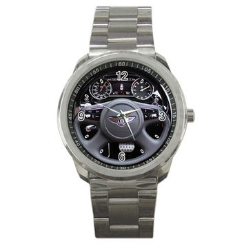 2011 Bentley Mulsanne Luxury Car Steering Wheel Sport Metal Watch
