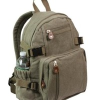 Rothco Vintage Canvas Backpack (Olive)