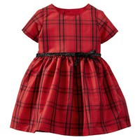 Carter's Plaid Glitter Dress - Baby Girl, Size: