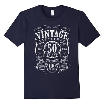 Vintage 50th Birthday 1968 Mens Dad Graphic Tee