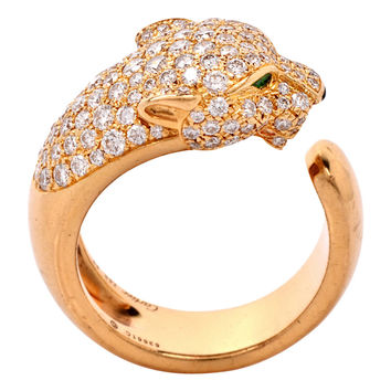 Cartier Diamond Emerald Gold Panther De From 1stdibs Jewelry