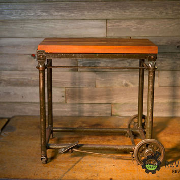 Stunning Industrial Serving Cart End Table