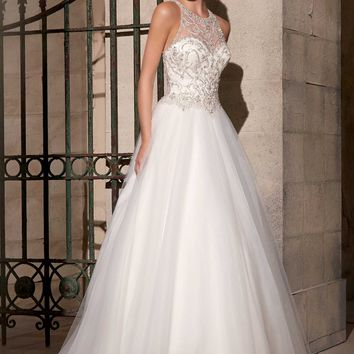 Mori Lee 2711 Tulle Ball Gown Wedding Dress