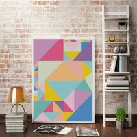 Colorful Wall Art, Abstract Art, Colorful Decor, Geometric Art, Modern Wall Art, Abstract Print, Modern Wall Decor, Large Prints.