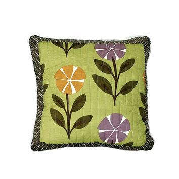 Tache 2 Piece 100% Cotton Colorful Summer Day Party Cushion Throw Pillow Cover (JHW-392-CC)