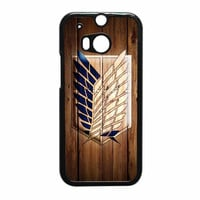 Attack On Titan Legion Logo Wood HTC One M8 Case
