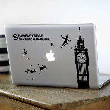 "Peter Pan Cartoon Laptop Decal for Apple Macbook Sticker Pro Air Retina 11"" 12"" 13"" 15"" Mac 15.6 HP Acer Notebook Partial Skin"