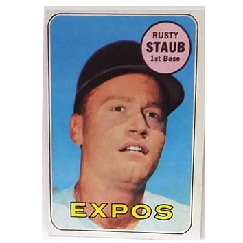1969 Topps #230 Rusty Staub, 1st Base, Houston Astros