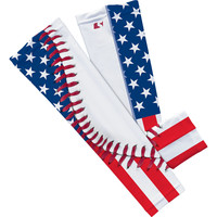 Baseball Lace USA American Flag Arm Sleeve