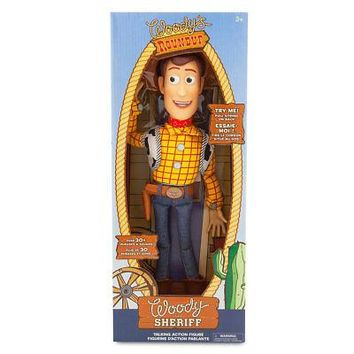 "Licensed cool 16"" Toy Story Woody Pull String Talking Sheriff Action Figure Doll Disney Store"