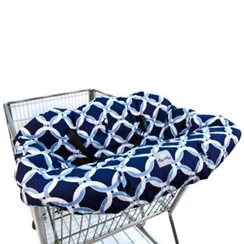 Itzy Ritzy Ritzy Sitzy™ Shopping Cart & High Chair Cover in Social Circle Blue