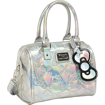 Loungefly Hello Kitty Silver Mini Duffle Embossed Bag - eBags.com c34f68f542e3f