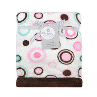 Carter's Pink Circle Valboa Blanket
