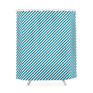 5 Cold Colors Options Striped Pattern Shower Curtains, Bathroom Shower Curtain, Minimal Pattern Design, Home Decor, Vintage shower curtain
