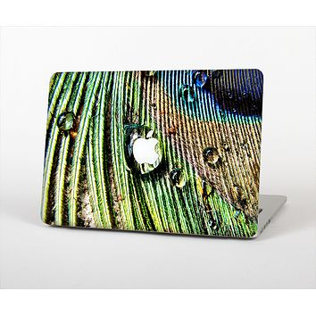 "The Watered Peacock Detail Skin Set for the Apple MacBook Pro 15"" with Retina Display"