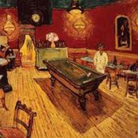 Night Cafe with Pool Table