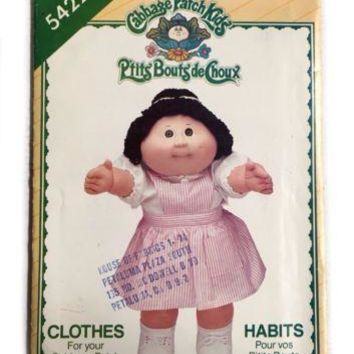 Vintage Butterick 5422 Cabbage Patch Kids Doll Sewing Pattern Costume Clothes