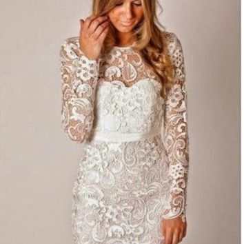 FASHION HOT LACE DRESS-1