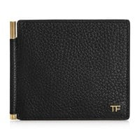 Gold Accent Leather Money Clip by Tom Ford