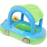 Swimming Pool beach 0-3 Years Thickened Car Boat with Steering Wheel Baby Float Seat Car Children Rubber Circles Swimming AccessoriesSwimming Pool beach KO_14_1