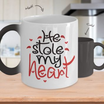 He Stole My Heart Color Changing Mug