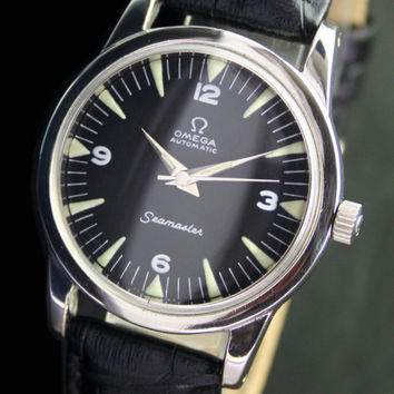 1950 Vintage Omega Seamaster Bumper Half Rotor Automatic Steel Mens Watch - 12166