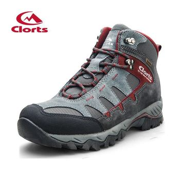 2017 Clorts Mens Hiking Boots Outdoor Sports Shoes Waterproof Breathable Camping Climb