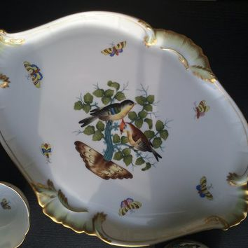Herend Hand Painted Rothschild Bird Tray
