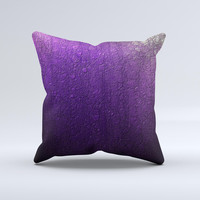 Purpled Crackled Pattern Ink-Fuzed Decorative Throw Pillow