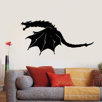 Vinyl Wall Decal Scary Dragon Wings Fantasy Monster Stickers Unique Gift (1675ig)