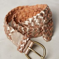 Twined Leather Belt by Anthropologie Gold