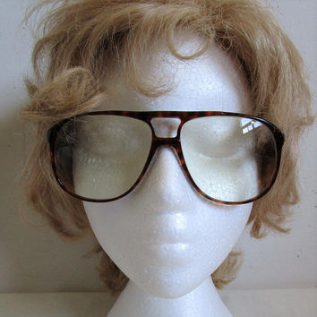Franco Bolli 70s Aviator Eyeglasses Mens Hipster Brown Frames Vintage 1970s Eyewear Made in France