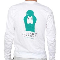 American Made Long Sleeve Mallard Tee in White by Collared Greens