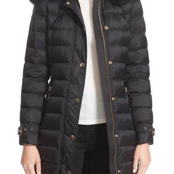 Burberry Ashmoore Down Puffer with Genuine Fox Fur Trim | Nordstrom