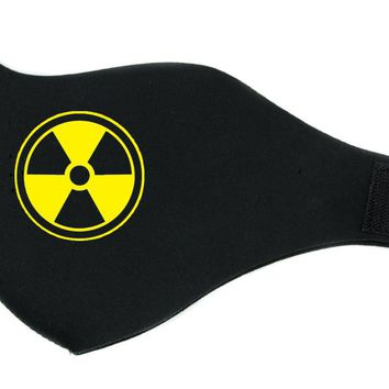 Radioactive Fallout Sign Half Face Mask for Cold Weather Cycling / Motorcycle Riding