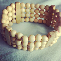 Tan stacked bracelet