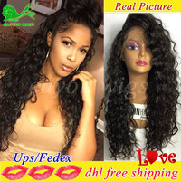 full lace human hair wigs for black women loose curly lace front human hair wigs with baby hair glueless full lace frontal wig