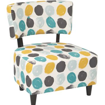 Office Star Brushed Dot Peacock Boulevard Chair