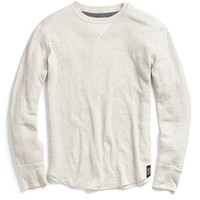 Double Layer Longsleeve T-Shirt in Light Grey Heather